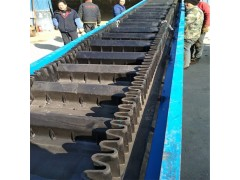 防滑式饲料锯末装车传送机定制 电动升降皮带机