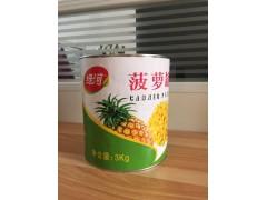糖水菠萝罐头3000g*6罐厂家直销内销 招商