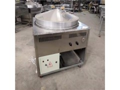 圆形燃气锅贴机品质厂家 上蒸下烤馒头机烧饼馒头锅贴机出蒸汽快
