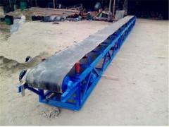V型槽电滚筒输送机价格 多用途袋料装车带式输送机