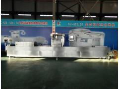 山东小康牌DLZ-420E牛肉干全自动连续拉伸膜真空包装机