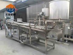 宏金自动豆腐皮机器价格,全自动豆腐皮生产线免费技术