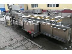 水煮青菜气泡清洗机 叶类菜清洗流水线供应厂家