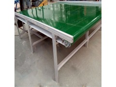 铝型材框架爬坡运输机 隔挡PVC带输送机