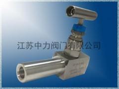 PN32MPA不锈钢高压承插焊式针型阀J61W-320P