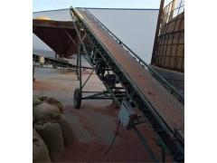 高挡边散料输送机 高品质爬坡输送机