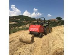 收麦秸的机器 拖拉机拉的麦秸打捆机 麦秸捡拾打捆机