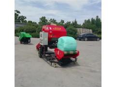 青贮全自动打包机 畜牧养殖青储包膜机 打捆包膜机生产厂家