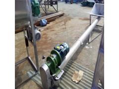大豆管式提升机 豆粕麸子螺旋上料机