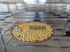 豆泡油炸锅 电加热自动出料豆腐油炸机 炸豆腐块机