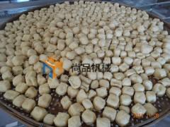 油豆腐油炸机 自动搅拌电加热炸豆腐机 豆泡油炸锅