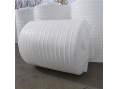 富航5吨圆形平底塑料储罐白色蓝色