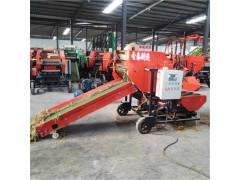 全自动薄膜包装机 大型草料打捆包膜机 干鲜草打捆包膜机