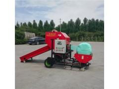 固定式草捆包膜机 圆捆青储打捆包膜机 草料打捆裹包机