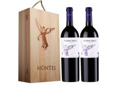 智利原瓶进口紫天使价格 蒙特斯红葡萄酒  团购09