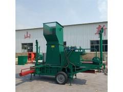 固定式秸秆打包机 牵引式秸秆打包机压块机 可移动的饲料压块机