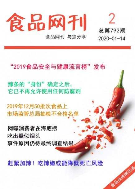 食品網刊2020年第792期