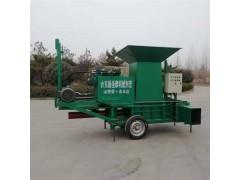 柴油机电机两用打包机 皇竹草粉碎压块机 三缸秸秆方捆压捆机