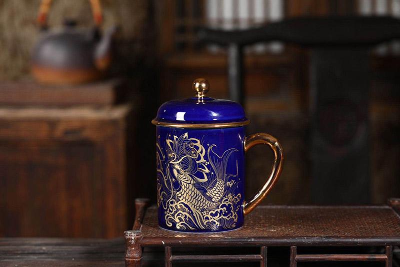 陶瓷办公泡茶杯定制5