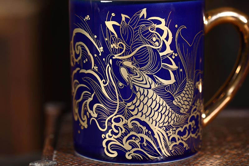 陶瓷办公泡茶杯定制6