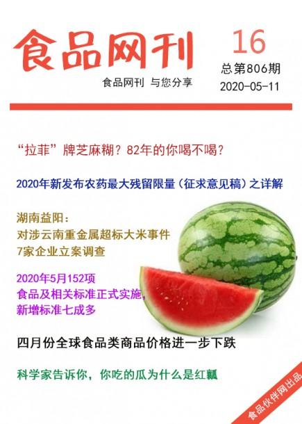 食品網刊2020年第806期