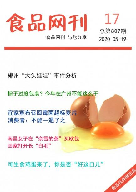 食品網刊2020年第807期
