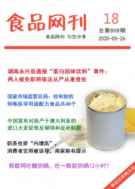 食品網刊2020年第808期