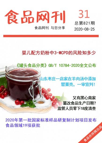 食品网刊2020年第821期