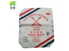 25kg生粉牛皮纸袋,方底袋,工厂直供,食品级包装袋