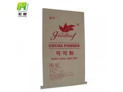 25kg可可粉牛皮纸包装袋,定制规格,工厂直供复合包装袋
