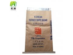 安徽宏甜供应25kg白砂糖包装袋工厂直供牛皮纸袋复合袋