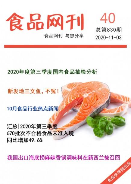 食品網刊2020年第830期