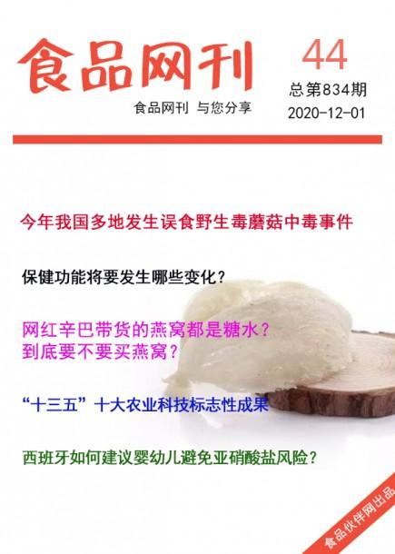 食品網刊2020年第834期