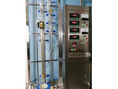 公斤级玻璃精馏塔实验装置