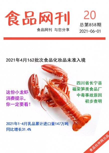 食品网刊2021年第858期