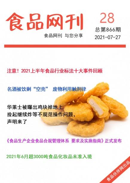 食品網刊2021年第866期